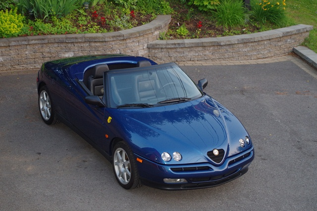 sold alfa romeo spider 916 blue atoll. Black Bedroom Furniture Sets. Home Design Ideas